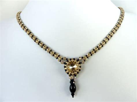 beaded pendant pattern free beading pattern for necklace rivoli duo