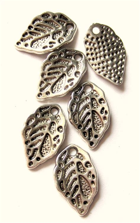 silver jewelry tools 18 silver leaf charms jewelry supplies leaf
