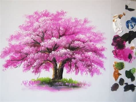 paint tree how to paint a tree in acrylic lesson 6