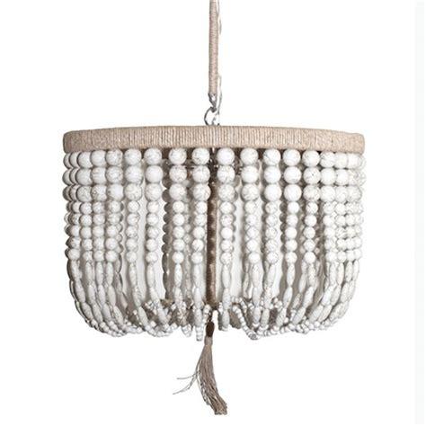 wood bead chandelier pottery barn hemp wrapped wood bead chandelier look 4 less and steals