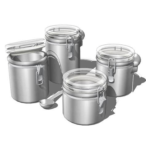 4 kitchen canister sets 4 big canister set 3d model formfonts 3d models