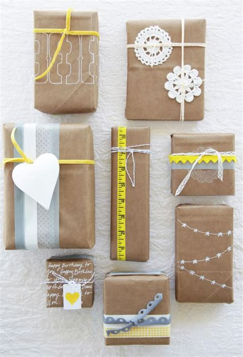 paper craft gift ideas gift wrapping ideas using lunch bags and kraft paper