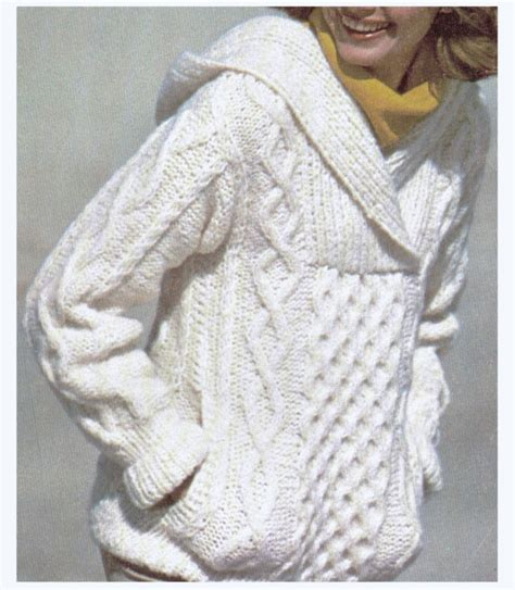 how to knit aran sweater aran knit hooded sweater sweet pattern by cowichanvalley