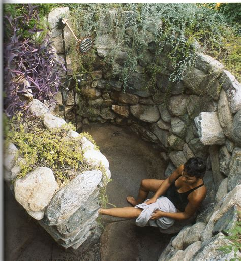 outdoor shower for cing outdoor shower this rock walled shower shower ideas