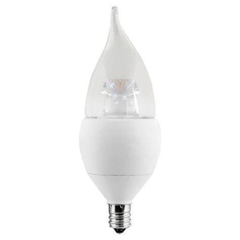 led light bulbs candelabra base 60w ecosmart 60w equivalent soft white b10 candelabra base
