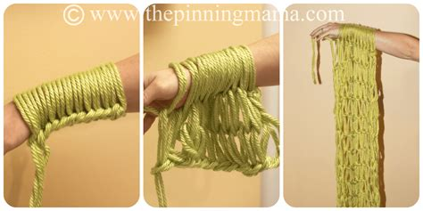 how to end arm knitting arm knitting infinity scarf the pinning