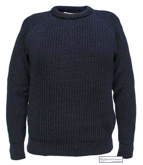jumpers uk s fishermans jumper navy blue the nautical company uk