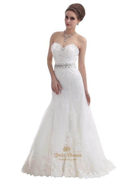 beaded mermaid dress mermaid strapless beaded appliques wedding dress with