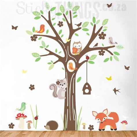 Bird Tree Wall Sticker woodland forest wall art sticker stickythings co za