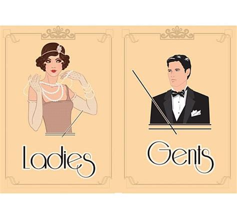 Toilet Boy Kopen by 1920 S Themed Toilet Signs Ladies Gents