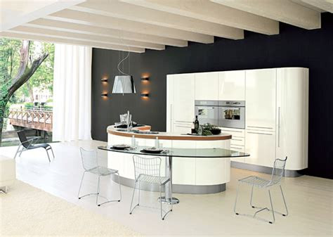 curved island kitchen designs curved kitchen island from record cucine digsdigs