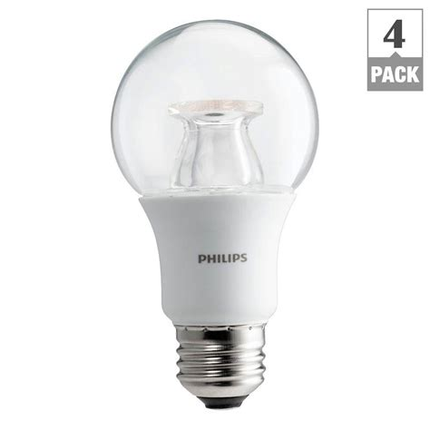 warm glow led lights philips 60w equivalent soft white clear a19 dimmable led