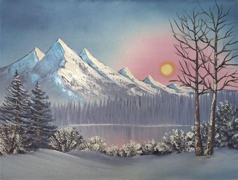 bob ross paintings winter morning mist everett boyer bob ross style paintings