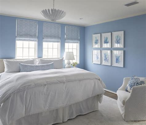 bedroom with blue walls blue bedroom with blue coral gallery wall cottage