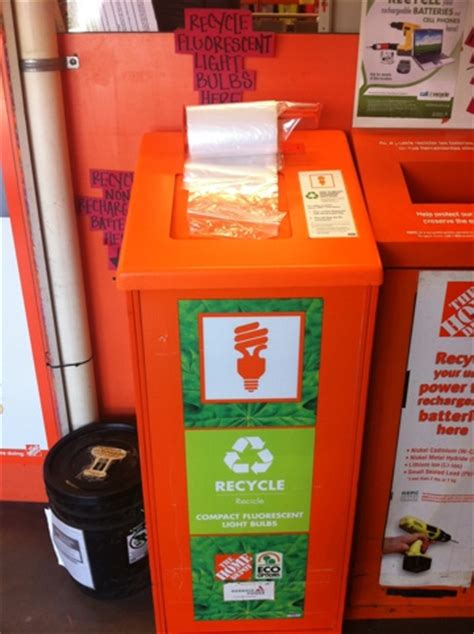 home depot recycle lights recycle cfl bulbs at home depot think outside the bin