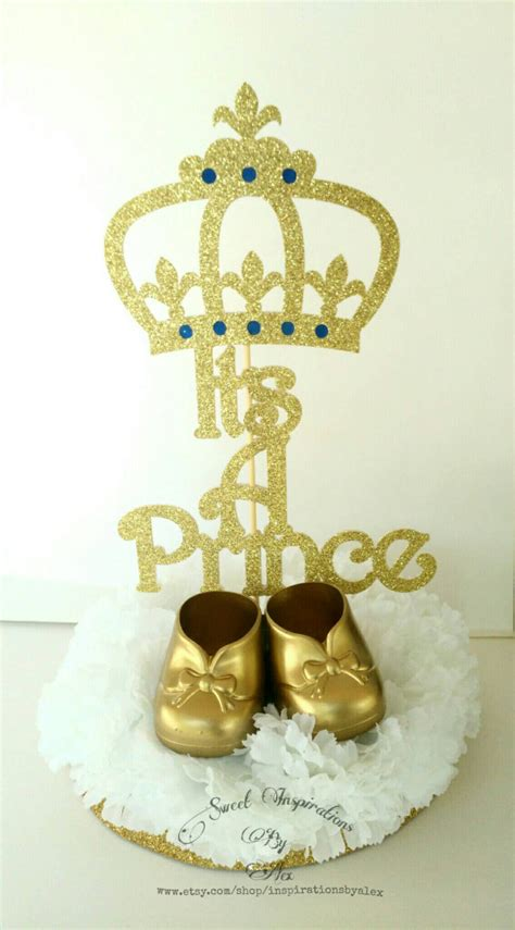 prince baby shower centerpieces it s a prince centerpieces baby shower it s a boy