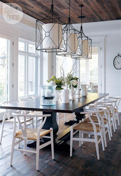style dining room lights coastal muskoka living interior design ideas home bunch