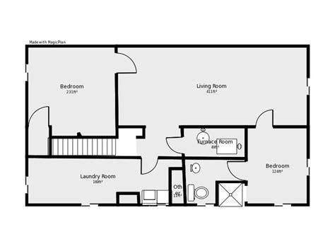 basement floor plan basement floor plan flip flop stairs and furnace room basement remodels stairs