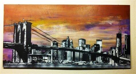 spray painter nyc new york state of mind spray paint on wood panel by me