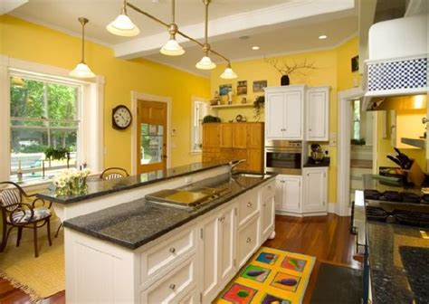 kitchen yellow walls white cabinets ikea granite countertops colors captainwalt