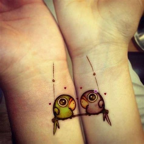 best friends cute birds tattoos on wrists tattooshunt com