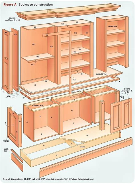 bookcase woodworking plans grand bookcase plans woodarchivist
