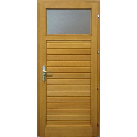 porte de service bois thiers poussant droit h 200 x l 80