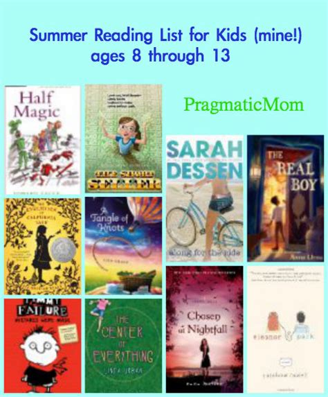 6th grade picture books summer reading list for mine ages 8 through 13