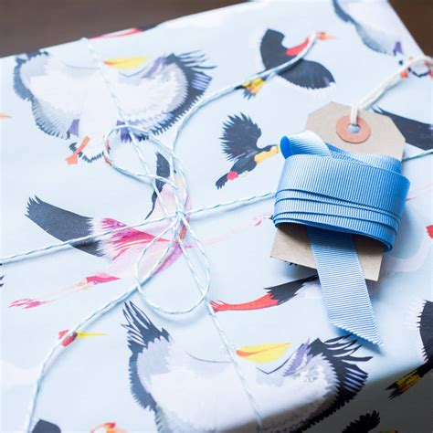 fabulous flock wrapping paper by kate slater