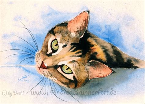 cat painting photos cat watercolor by drehli on deviantart