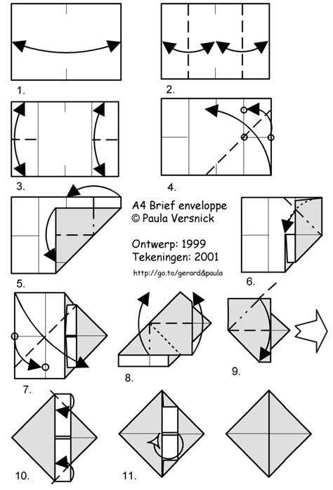 origami envelope a4 orihouse my room my origami designs with diagrams