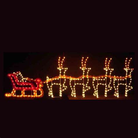 lighted santa dreams santa sleigh led light display 30
