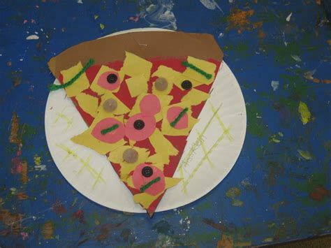 paper plate pizza craft pizza craft on paper plate teaching