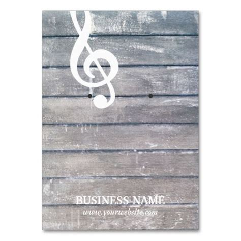 make your own earring cards weathered wood musical earring holder business card