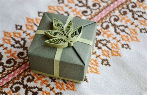 origami gifts for him origami gift box with quilling ornament gift for him