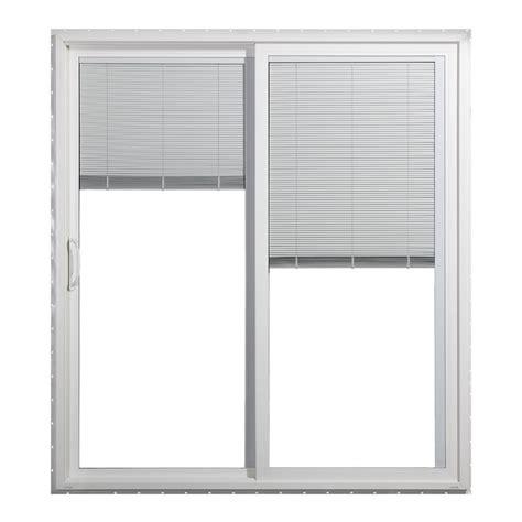 sliding door with blinds between glass shop jeld wen 71 5000 in blinds between the glass white