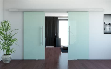 double frosted glass door with stainless steel handle for