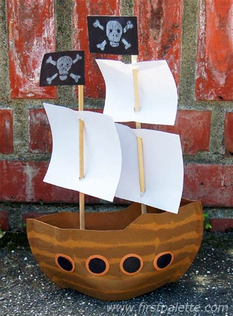 ship craft for mayflower or pirate ship craft crafts