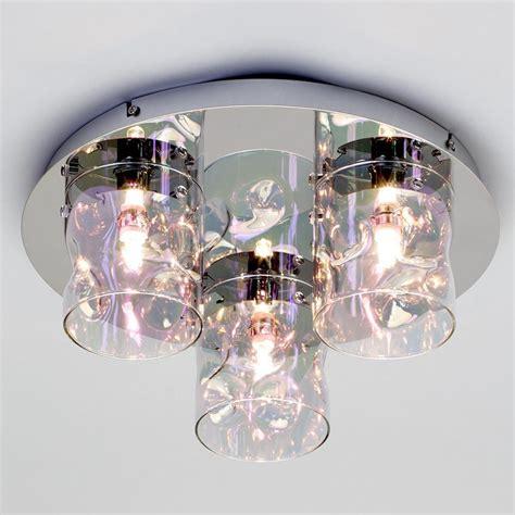 statement ceiling lights monet 3 light petroleum tinted glass flush ceiling light