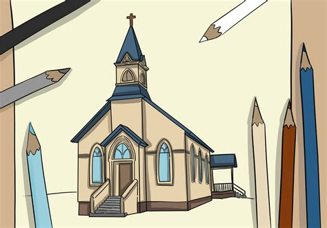 for on how to draw a church 8 steps with pictures wikihow