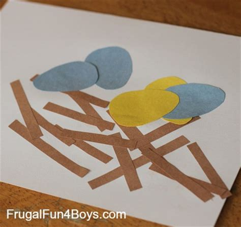 construction paper crafts for boys toddler craft construction paper bird s nest frugal
