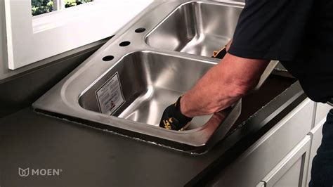 how to fit kitchen sink how to install a stainless steel drop in sink moen