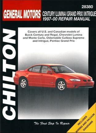 1997 pontiac grand prix repair shop manual original 2 volume set century lumina grand prix intrigue repair manual 1997 2000