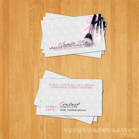 card make up makeup artist business cards www proteckmachinery