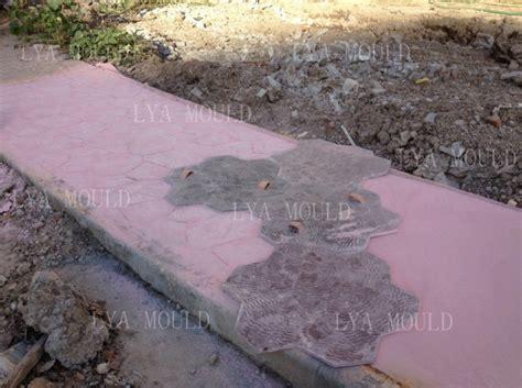 concrete rubber st popular random rubber pvc st concrete floor mold