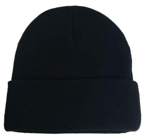 knit cap big black knit caps
