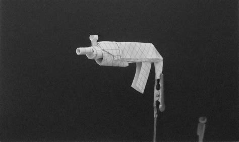 origami gun origami guns submachine gun by solidmark on deviantart
