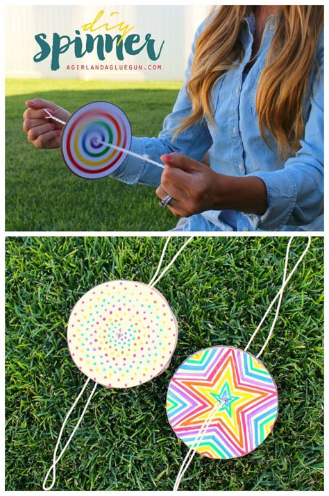 summer crafts to do with diy paper spinner for endless make and takes