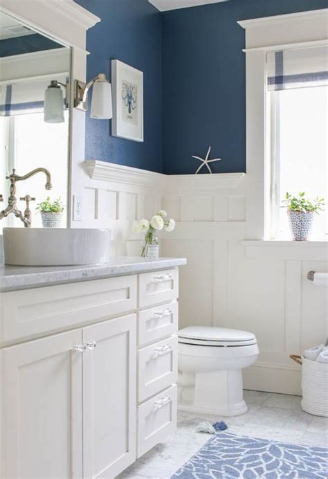 blue gray bathroom ideas 5 navy white bathrooms the inspired room