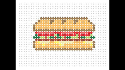 hama food hama bead sandwich baguette food series 2 2